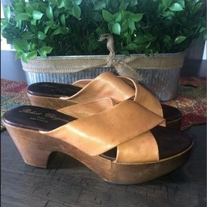 Robert Clergerie Slip on wooden platforms